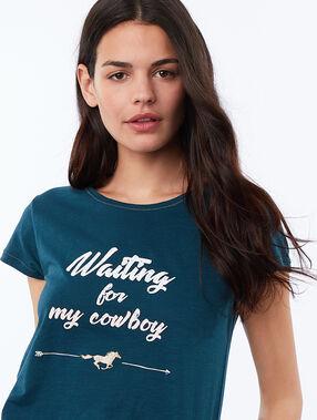 T-shirt z napisem bleu.