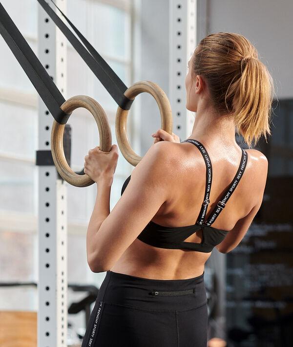 Biustonosz sportowy z ramiączkami z nadrukiem - średnie podtrzymanie