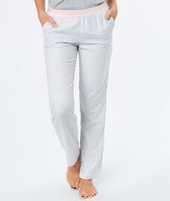 Cienkie spodnie  w paski gris.