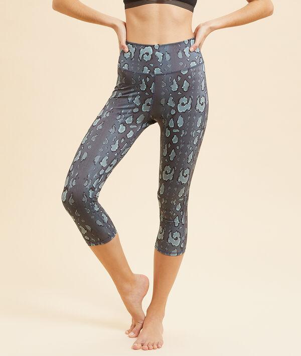 Wzorzyste legginsy do jogi krótkie;${refinementColor}