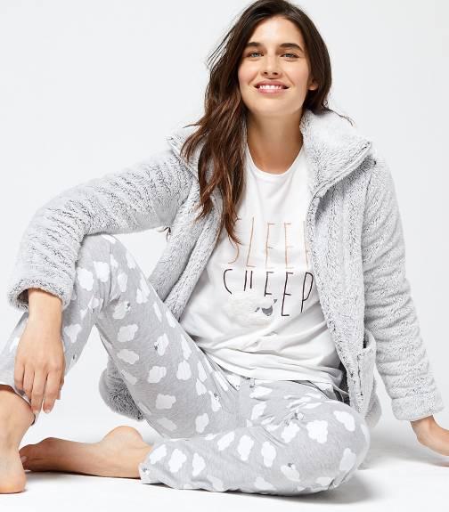 Piżama trzyczęściowa z napisem sleep sheep